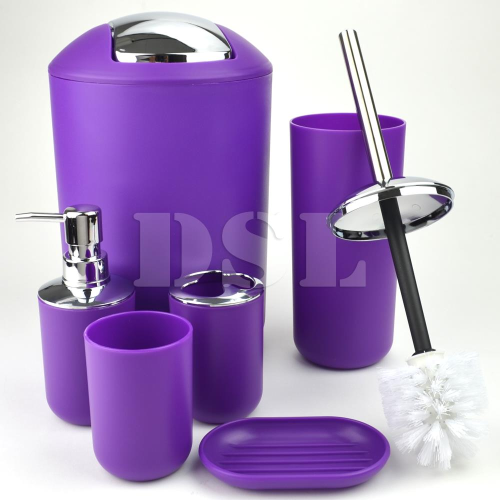 2017 new style 6pc bathroom accessory set tumbler toilet for New bathroom accessories