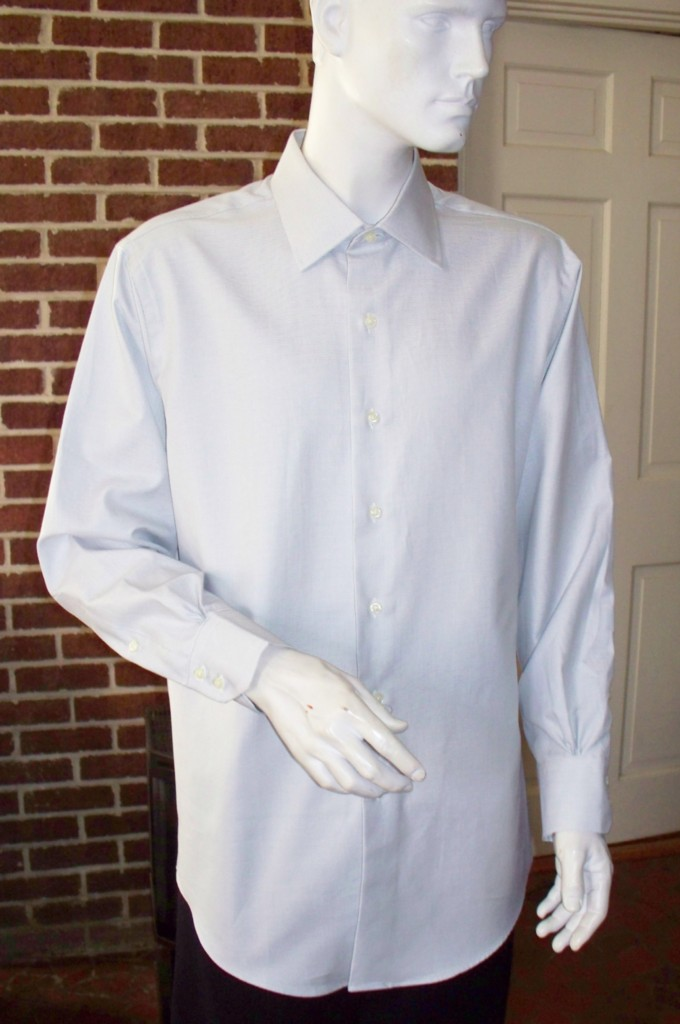 Slim fit brooks brothers mens dress shirt nwot egyptian for Mens egyptian cotton dress shirts