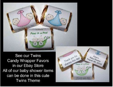 details about 12 twins baby shower favors advice cards