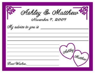 bridal shower advice cards template 12 wedding or bridal shower advice cards personalized ebay