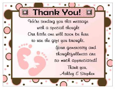 details about 20 polkadot baby feet baby shower thank you cards
