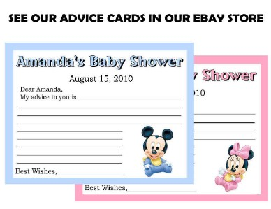 baby mickey mouse baby shower invitations design  ebay, Baby shower invitations