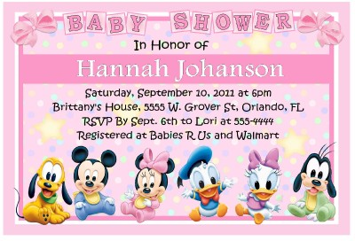 details about baby mickey disney babies baby shower invitations