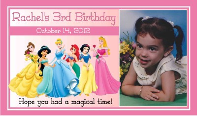12 DISNEY PRINCESS BIRTHDAY PARTY FAVORS PHOTO MAGNETS