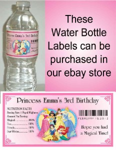 108 Disney Princess Birthday Party Favors Hershey Kiss Labels