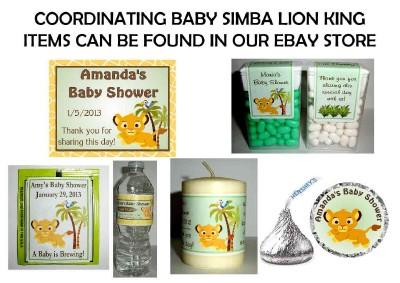 30 baby simba lion king baby shower tea bag labels favors