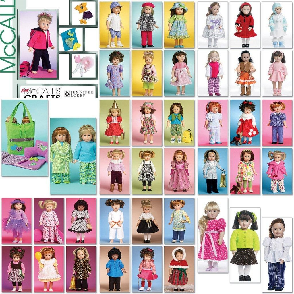 Mccall 039 S American Girl 18 034 Doll Clothes Sewing Pattern | eBay