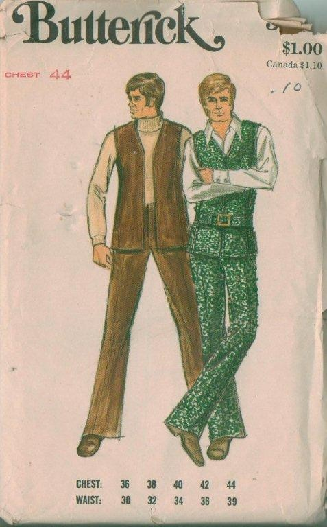 Vintage Butterick Men\'s Clothing Sewing Pattern Uncut | eBay