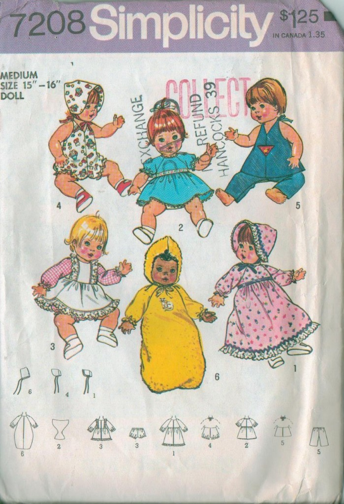 vintage simplicity baby doll clothes sewing pattern ebay