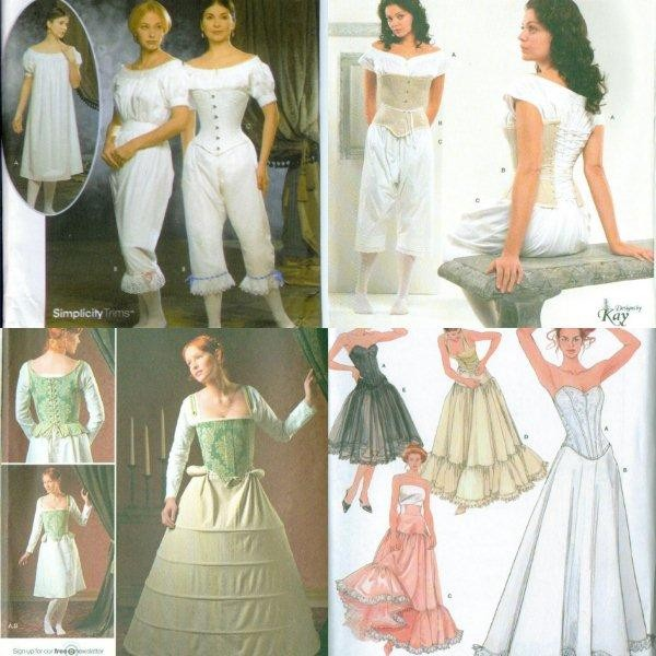 Simplicity Historical Under Garments Costume Pattern Renaissance New Delectable Costume Patterns
