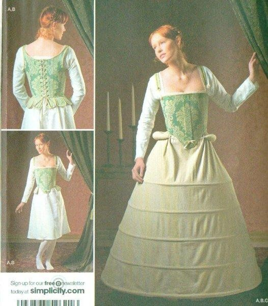 Simplicity Historical Under Garments Costume Pattern Renaissance New ...
