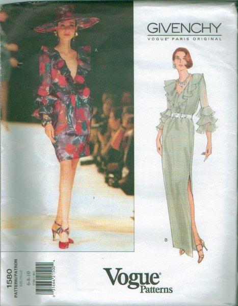 Vogue Paris Original Designer Givenchy Sewing Pattern ...