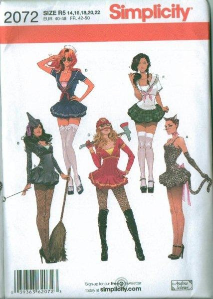 Simplicity Adult Halloween Costume Sewing Pattern Misses Men Ladies ...