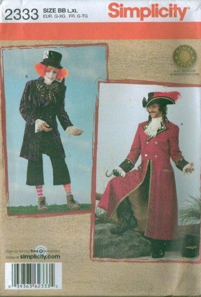 Simplicity Adult Halloween Costume Sewing Pattern Misses Men Ladies ...
