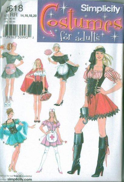 Simplicity Adult Halloween Costume Sewing Pattern Misses Men  Sc 1 St EBay