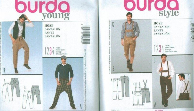 Burda Young Men\'s Fashion Pants Trousers Sewing Pattern Skater | eBay