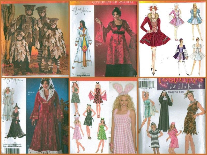 Oop Simplicity Adult Halloween Costume Sewing Pattern Includes Plus