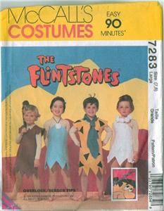 Flintstones Costume Sewing Pattern UNCUT Mccalls 5543