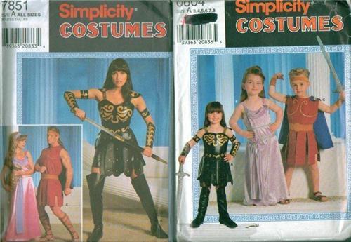 Xena Warrior Princess Halloween Costume Sewing Pattern Simplicity ...