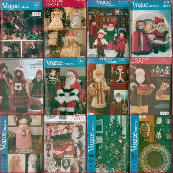 OOP-Vogue-Sewing-Pattern-Christmas-Holiday-Decorations-Craft-Xmas-Uncut-U-Choose