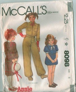 Pattern For Little Orphan Annie Costume