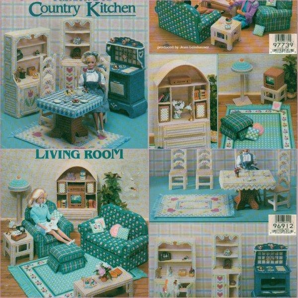 Barbie 11 1 2 Fashion Doll Plastic Canvas Home Furniture Decor Pattern Ebay