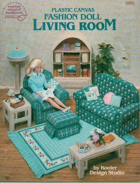 Barbie 11 1 2 034 Fashion Doll Plastic Canvas Home Furniture Amp Decor Pattern Ebay