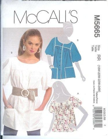 McCalls-Sewing-Pattern-Blouses-Tops-Shirts-Tunics-Plus-Size-18W-20W-22W-24W-XLG