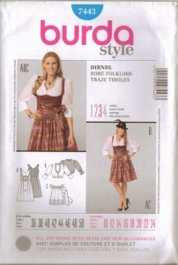 Darling Vintage German Dirndl Simplicity Pattern by StelmaDesigns