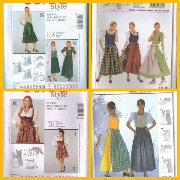 Dirndl Blouse Sewing Pattern - Leopard Trim Blouse