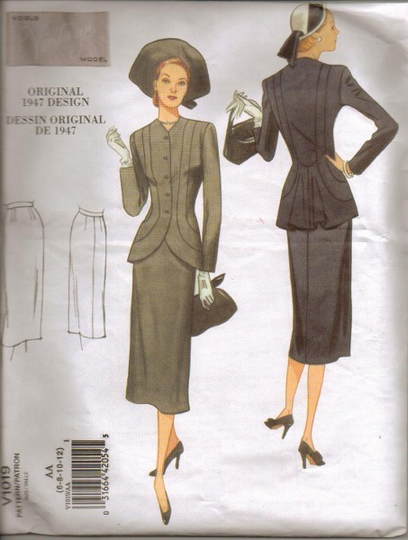 Vogue-Sewing-Pattern-Retro-Vintage-Model-Orignial-Design-Misses-Size-6-8-10-12