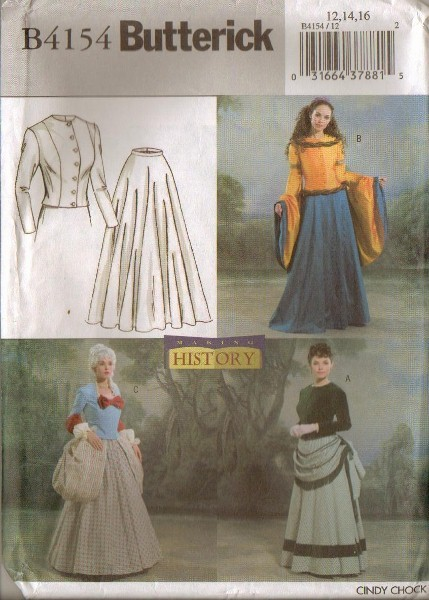 OOP Butterick Sewing Pattern Making History Historical Costume ...