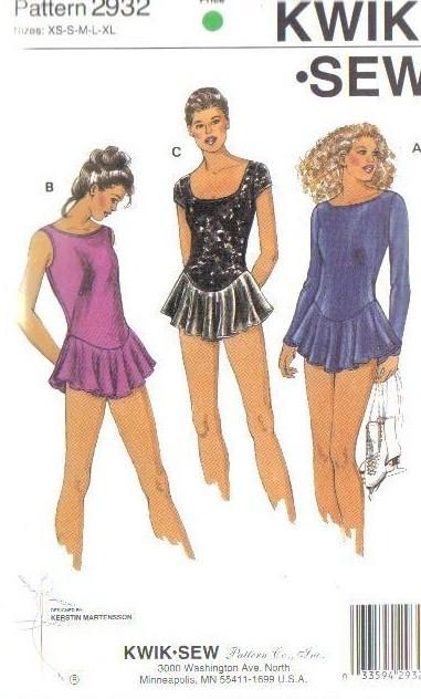 Kwik Sew Sewing Pattern Misses Unitard Leotard Dance Xs S M L Xl W