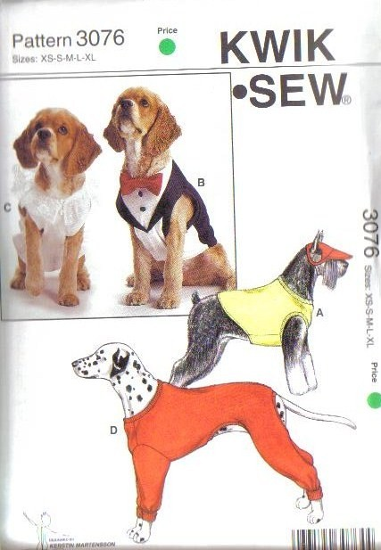 Kwik Sew Pet Sewing Pattern Dog Clothes Cat Toys Accessories Size Xs