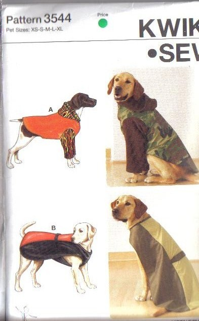 Kwik Sew Pet Sewing Pattern Dog Clothes Cat Toys Accessories Size XS ...