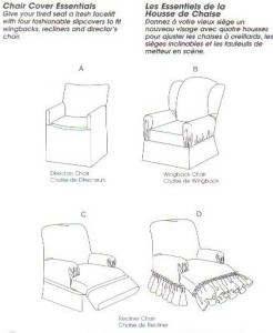 Mccall 39 S Sewing Pattern 4069 Chair Slip Cover Wingback Recliner Home Slipcover Ebay