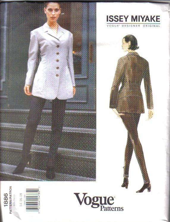 Oop Issey Miyake Vogue Sewing Pattern Designer Original Misses W