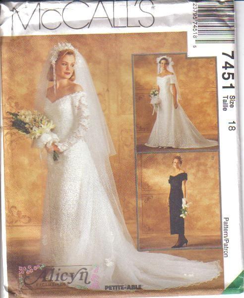 Wedding Dress Plus Size Patterns : Bridal wedding gown bridesmaid dress plus size mccalls sewing pattern