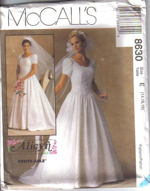 Oop bridal wedding gown bridesmaid dress plus size mccalls for Wedding dress patterns plus size