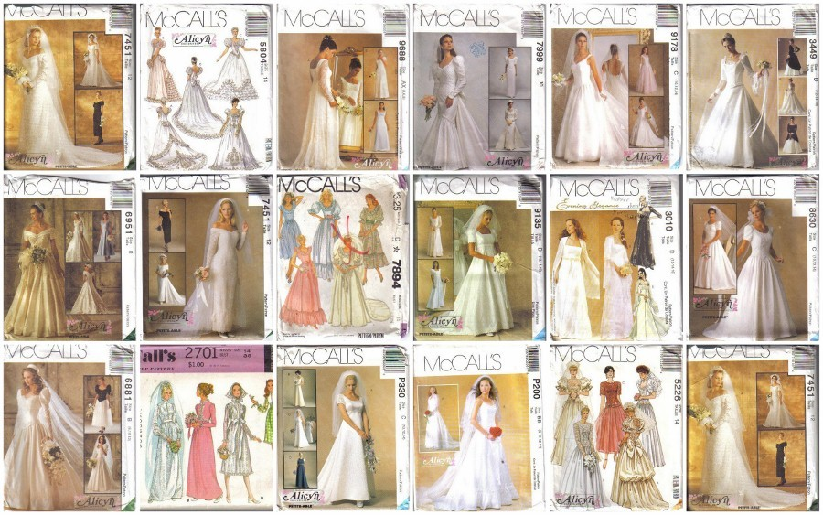 OOP Bridal Wedding Gown Bridesmaid Dress Misses Size McCalls Sewing Inspiration Wedding Gown Patterns