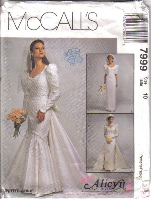 Oop bridal wedding gown bridesmaid dress misses size for Wedding dress sewing patterns free