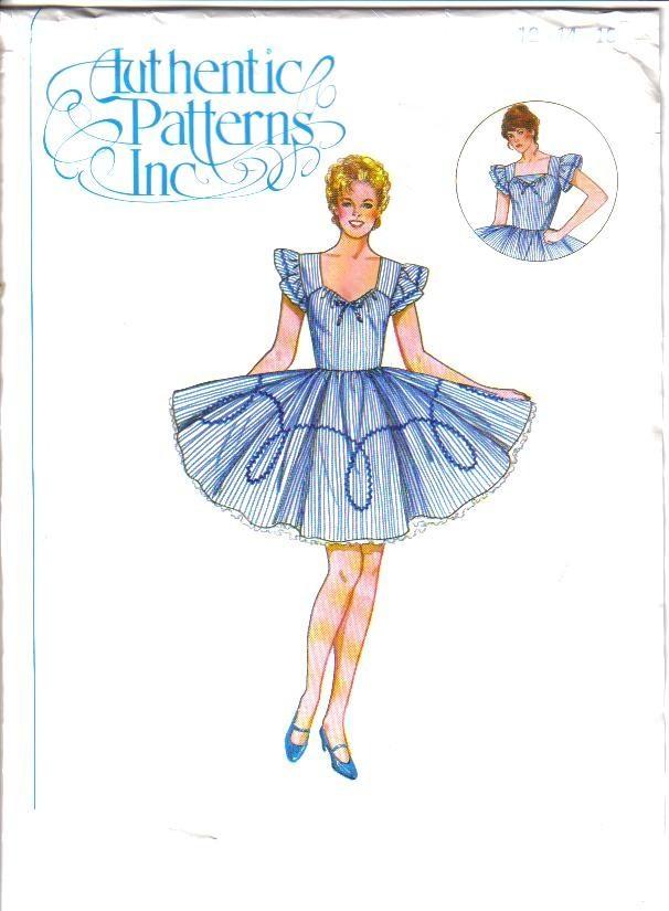 Vestido de baile auténtico patrones Inc patrón de costura Damas ...