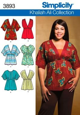 Simplicity-Khaliah-Ali-Collection-Sewing-Pattern-Womens-Full-Figure-Plus-Size