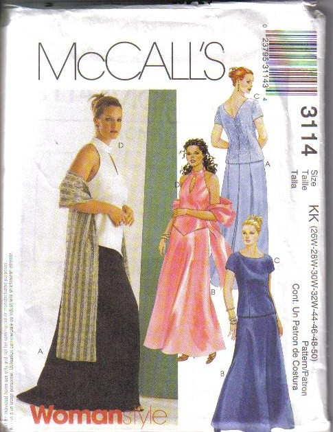 Mccalls Formal Evening Wear Dress Sewing Pattern Cocktail Gown
