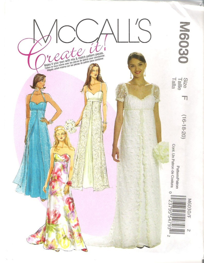Mccalls formal evening wear dress sewing pattern cocktail gown misses