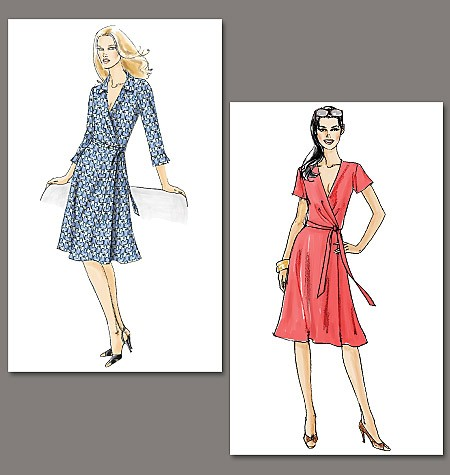 Lovely-Very-Easy-Vogue-Wrap-Dresses-Sewing-Pattern-Misses-Size-You-Choose