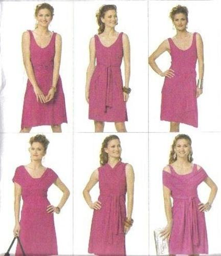 Draped Gown Pattern: EZ Butterick 5606 Infinite Style Draped Knit Dress Sewing