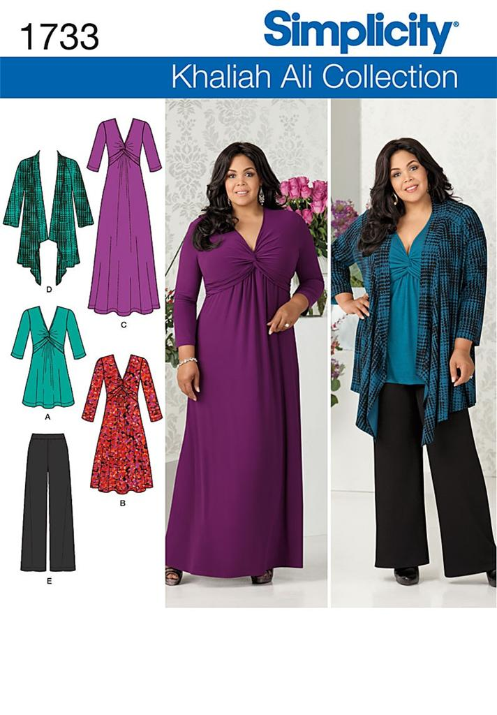 New Simplicity Plus Size Sewing Patterns Womens Size 20W 22W 24W 26W ...