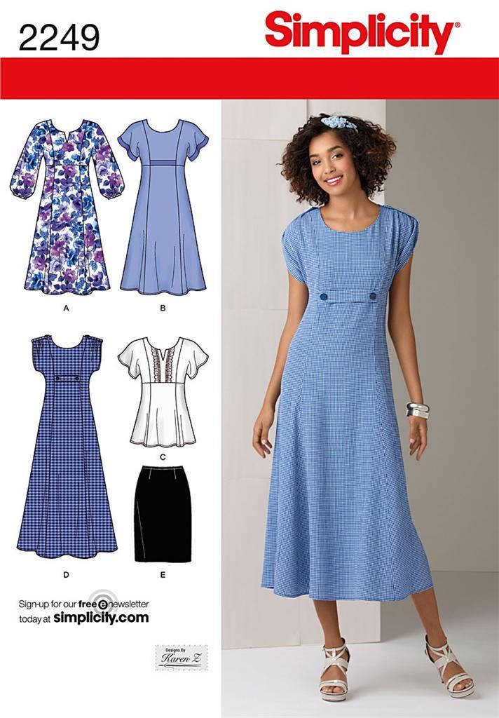 New Simplicity Plus Size Sewing Patterns Womens Size 20w 22w 24w 26w