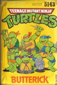 Vintage Teenage Mutant Ninja Turtles TMNT Costume Sewing Pattern